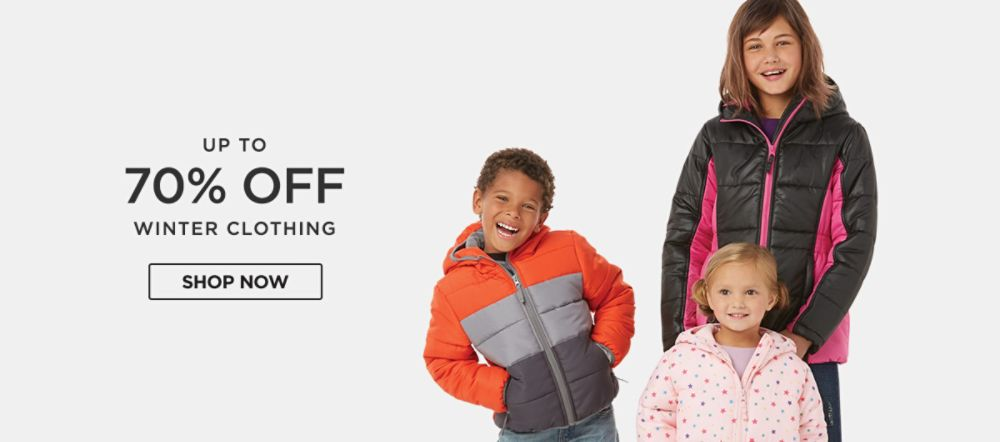 Up to 70% off winter clothing. Shop now