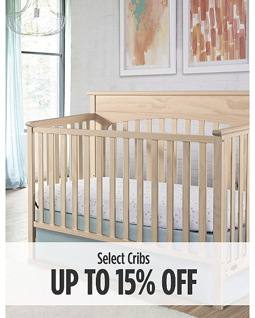 Up to 15% off Select Cribs