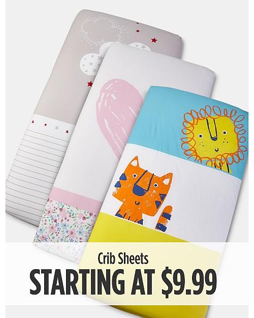 Crib Sheets starting at $9.99