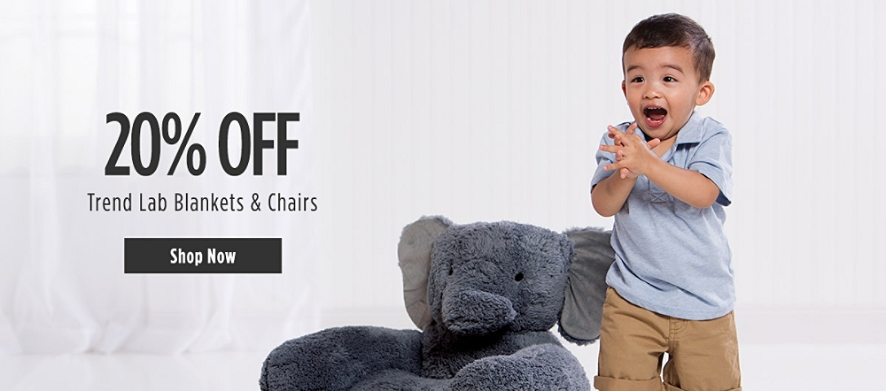 20% off Trend Lab Blankets & Chairs