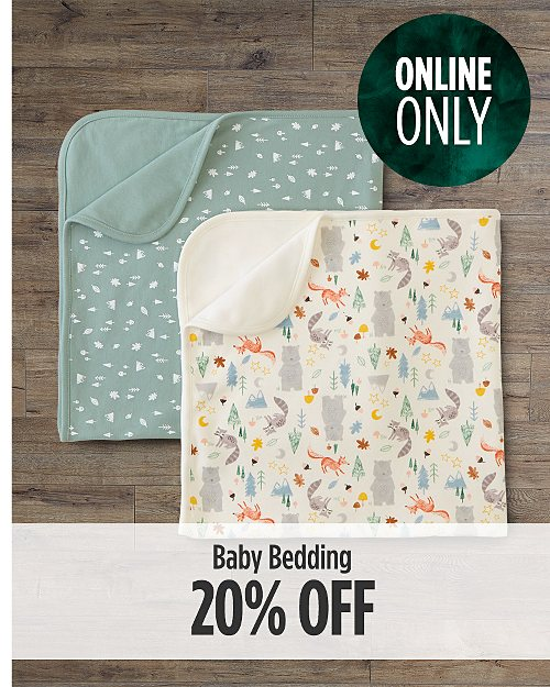 Online Only! 20% off Baby Bedding
