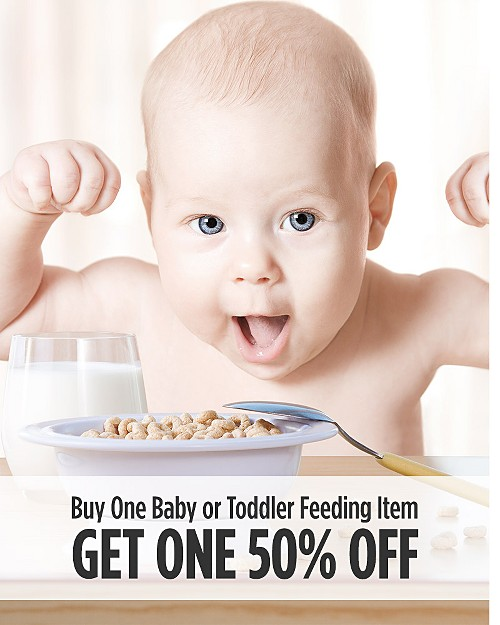Buy One, Get One 50% Off Baby & Toddler Feeding Items