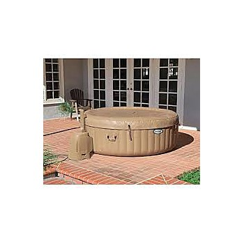 Portable vinyl-liner hot tubs
