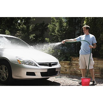 Spray car with water