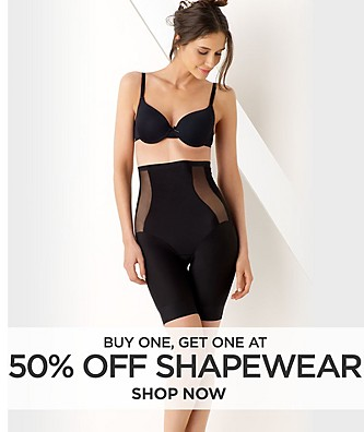 Buy One, Get One at 50% off Shapewear