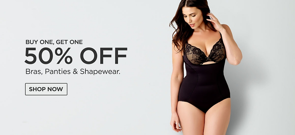 Buy One Get One 50% off Bras Panties & Shapewear