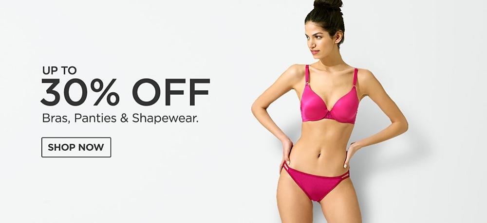 Up to 30% Bras, Panties & Shapewear