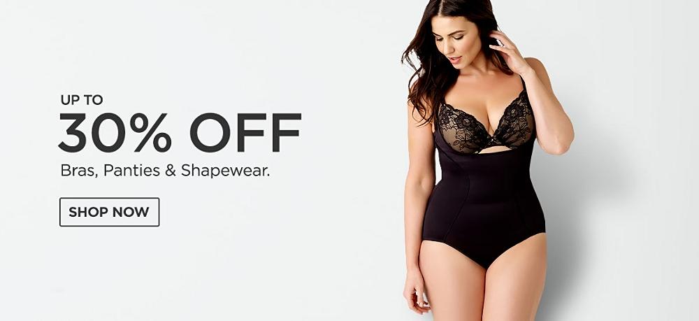 Up to 30% off Bras, panties & Shapewear