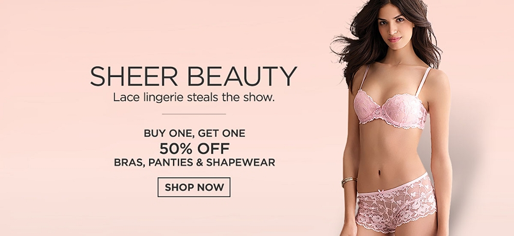 Buy One, Get One at 50% off Bras, Panties & Shapewear