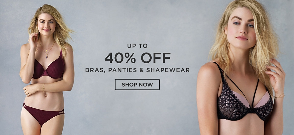 Up to 40% off Bras, Panties & Shapewear. Shop Now