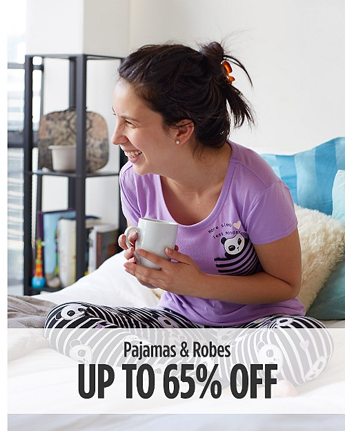 Up to 65% off pajama & robes