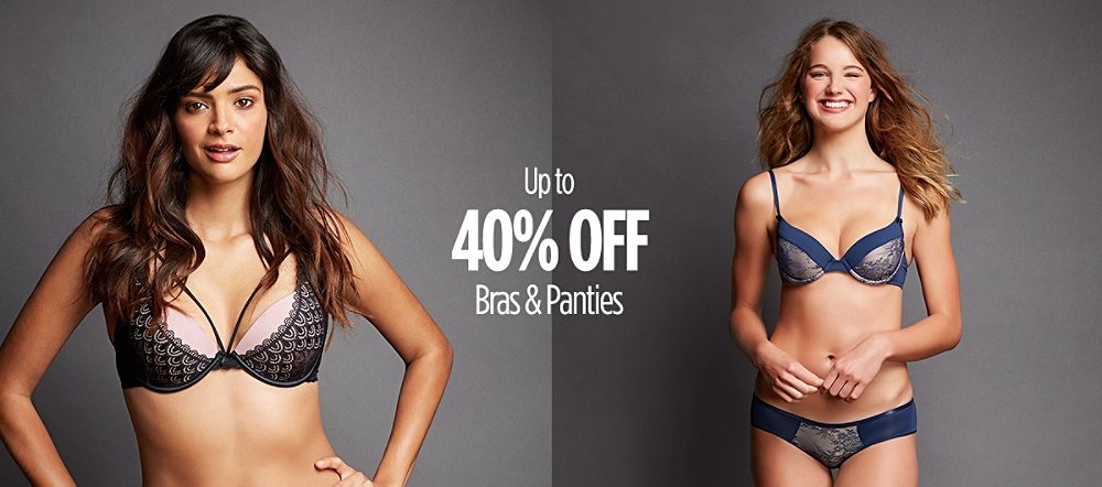 Up to 40% Off Bras & Panties