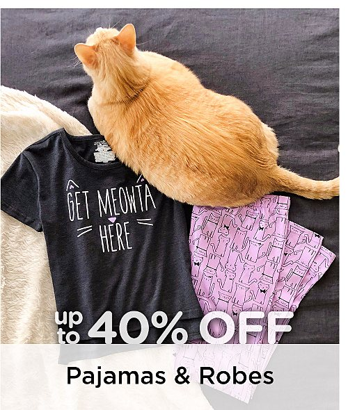 Up to 40% Off Pajamas & Robes