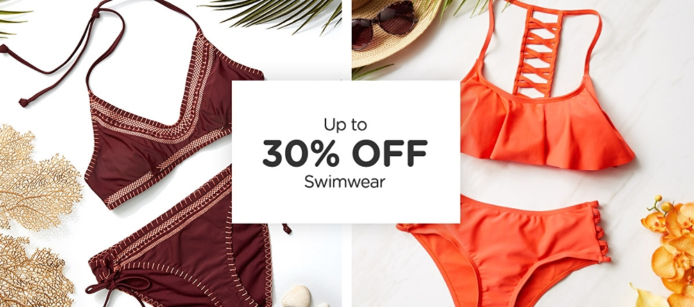 Up to 30% Off Swimwear