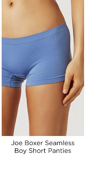 Joe Boxer Women's Seamless Boy Short Panties