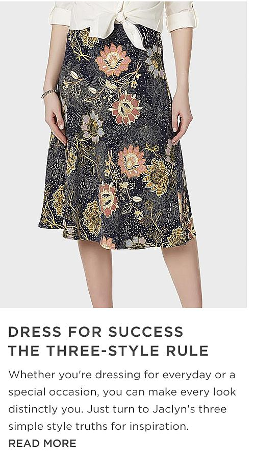 Dress for success the three style rule