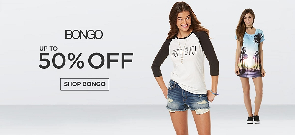 Up to 50% off Bongo