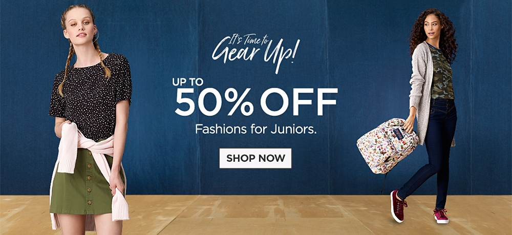 Up to 50% Off Fashions for Juniors