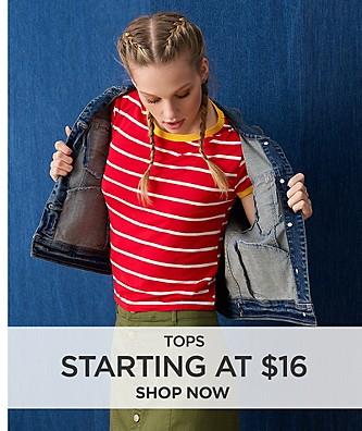 Top starting at $16