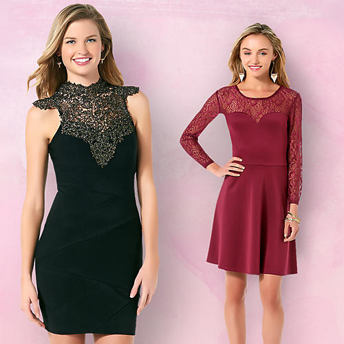 Juniors Dresses&#x3b; Lace&#x3b; Leather&#x3b; Valentine's Day Dresses&#x3b; Red Dresses&#x3b; Date Night