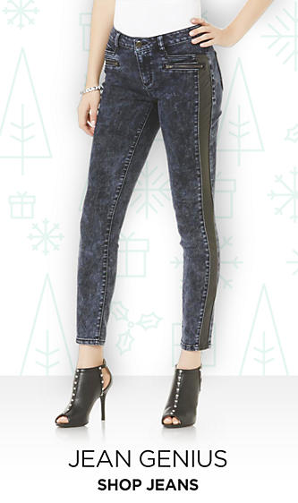 Shop Jeans for Juniors destructed skinny boot cut ripped