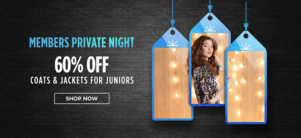 Members Private Night! 60% off Coats & Jackets for Juniors. Shop now