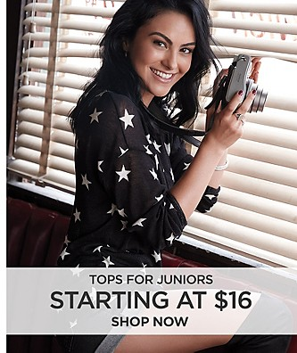 Tops for Juniors starting at $16