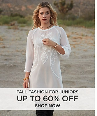 Up to 60% Off Fall Fashion for Juniors