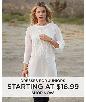 Dresses for Juniors starting at $16.99