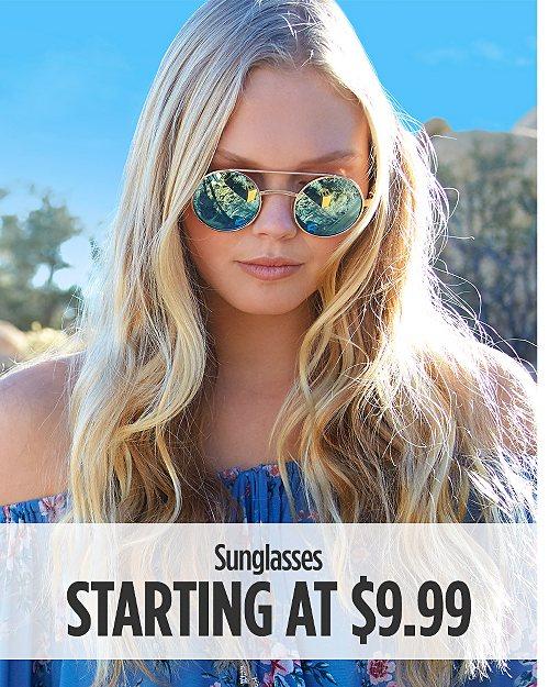Sunglasses Starting at $9.99