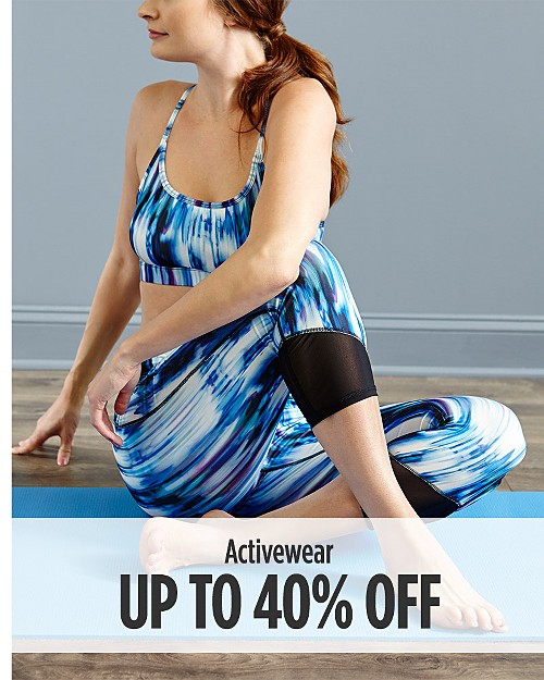 Up to 40% Off Activewear for Her