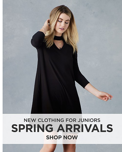 New Spring Arrivals for Juniors. Shop now