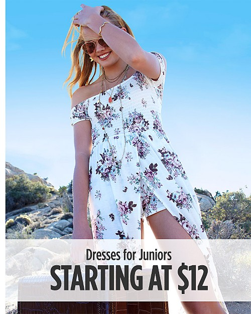 Dresses for Juniors Starting at $12.99. Shop Now