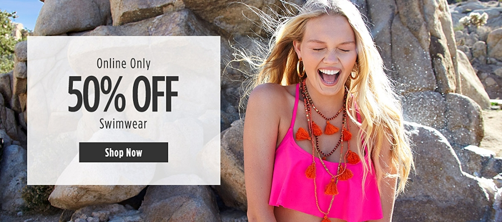 Online Only | 50% off Swimwear