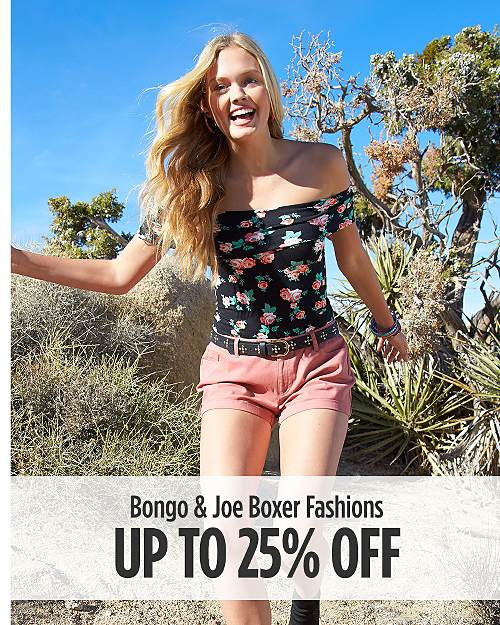 Up to 25% off Bongo & Joe Boxer Fashions
