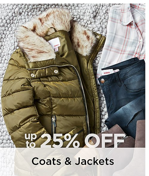 Up to 25% Off Coats & Jackets