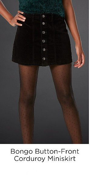 Bongo Juniors' Button-Front Corduroy Miniskirt