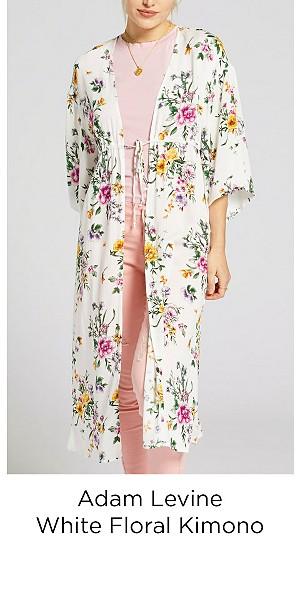 Adam Levine Women's Printed Kimono - White Floral