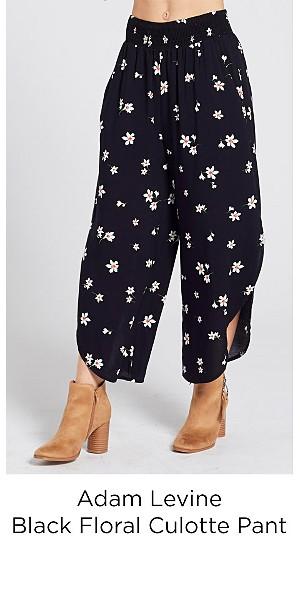 Adam Levine Women's Culotte Pant - Black Floral