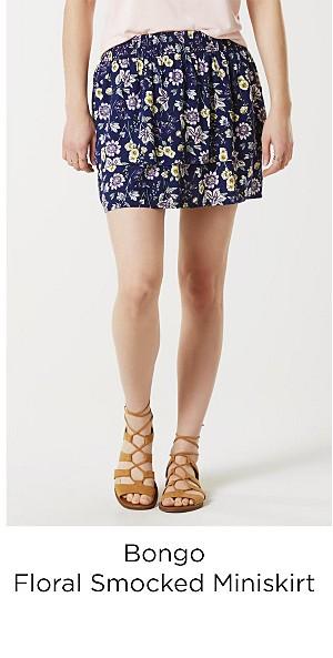 Bongo Juniors' Smocked Miniskirt - Floral