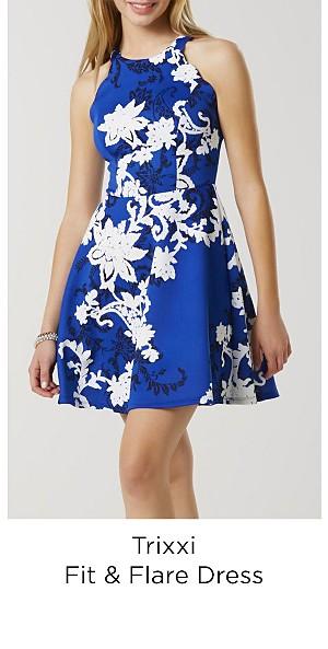 Trixxi Juniors' Fit & Flare Dress