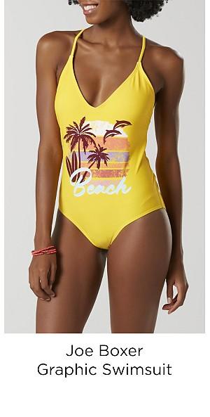 Joe Boxer Juniors' Graphic Swimsuit