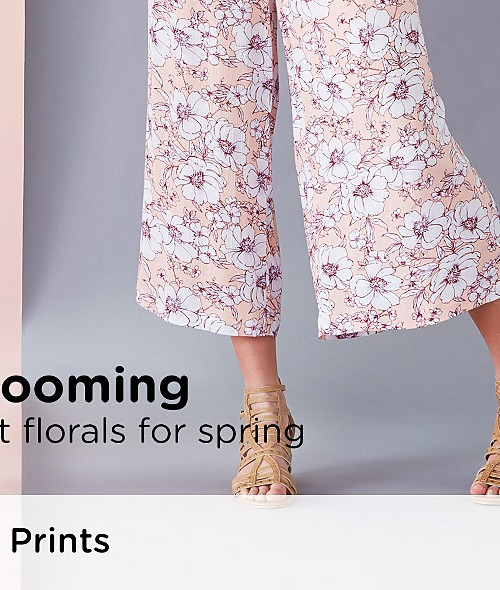 Now Blooming! Shop the freshest florals for spring. Shop Floral Prints