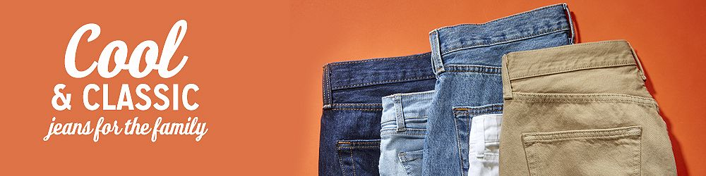 Cool and classic jeans for the family