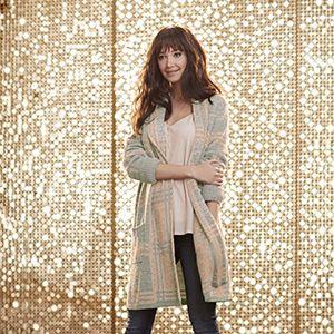 Woman wearing fashionable cardigan