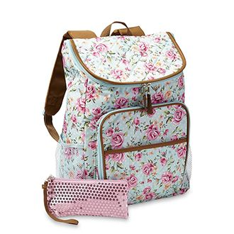 Backpack with Floral Pattern