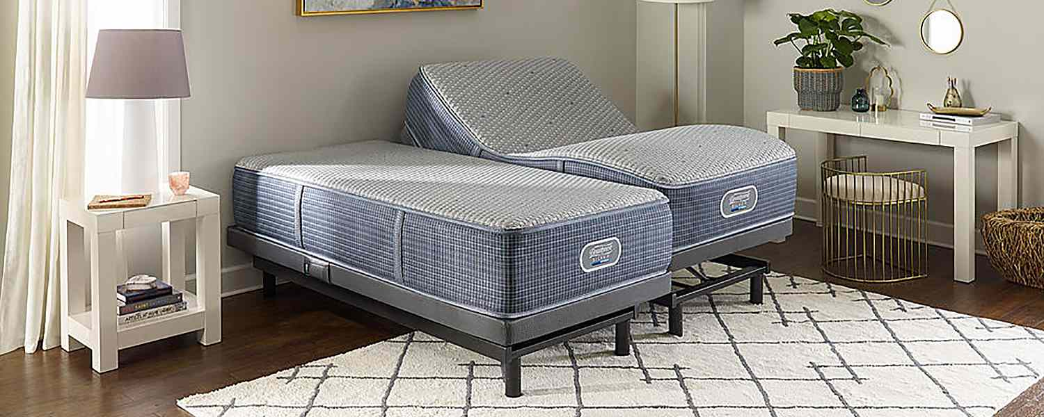 Divided adjustable bed