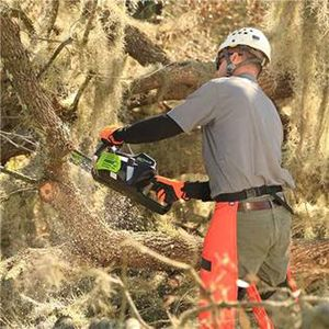 Using a chain saw