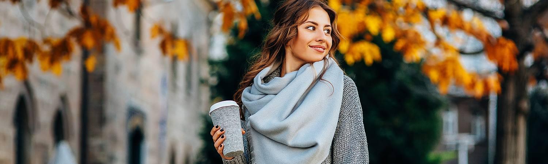 Stylish woman in fall