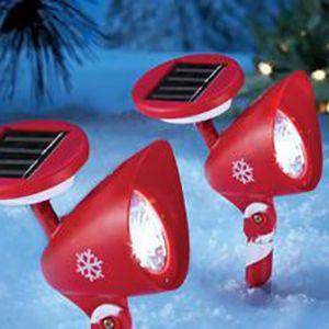 Holiday themed outdoor spotlights
